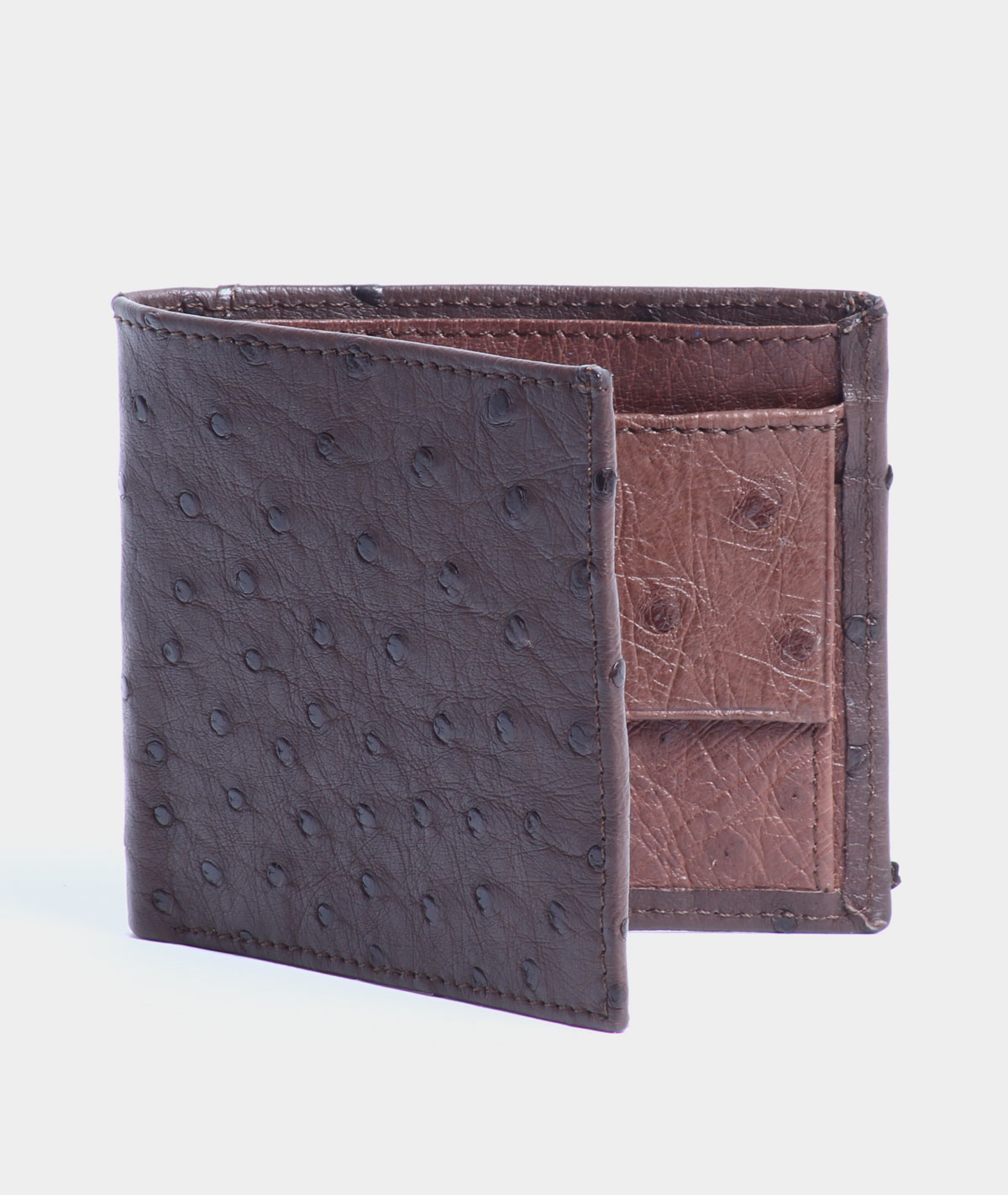 MENS WALLET IN TWO TONE BROWN