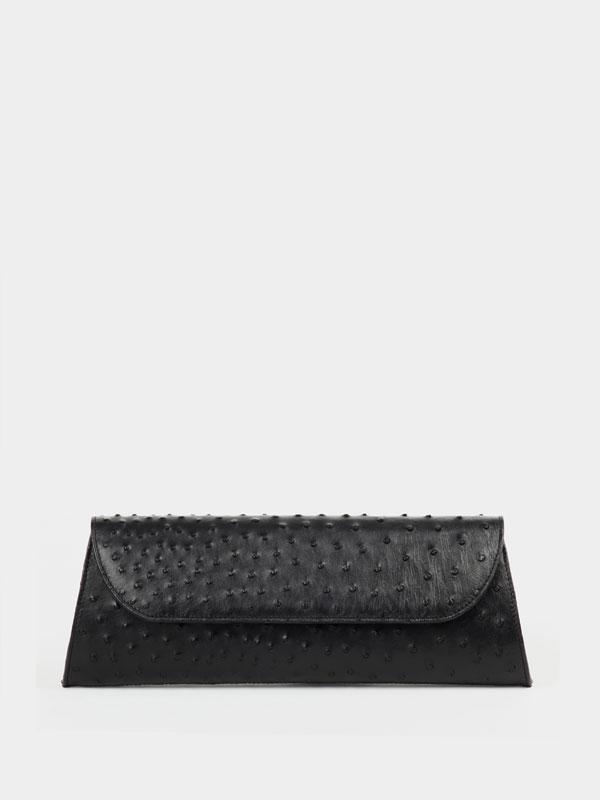 black-ostrich-leather-clutch-1