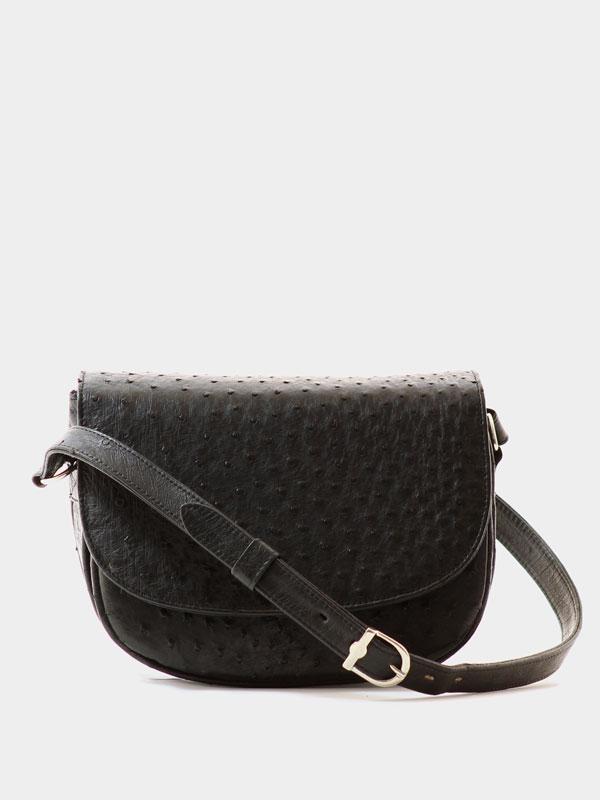 black-ostrich-leather-crossbodey-sling-bag-1