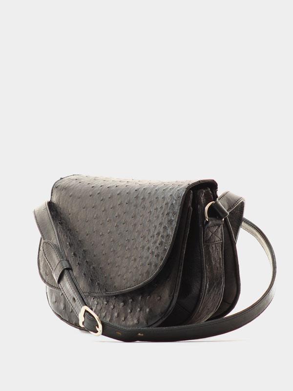 black-ostrich-leather-crossbodey-sling-bag-2