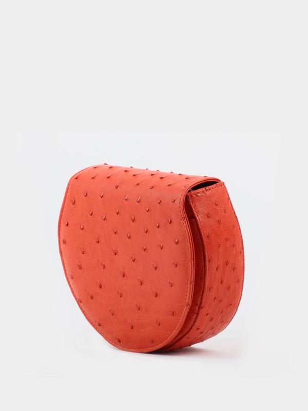 red-halfmoon-ostrich-leather-crossbodey-sling-bag-2