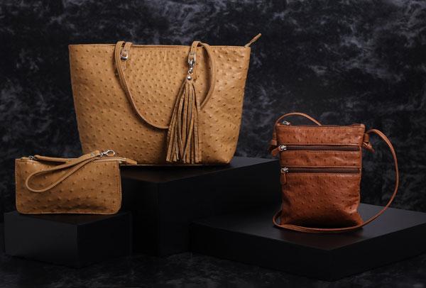 Genuine Ostrich Leather Handbags